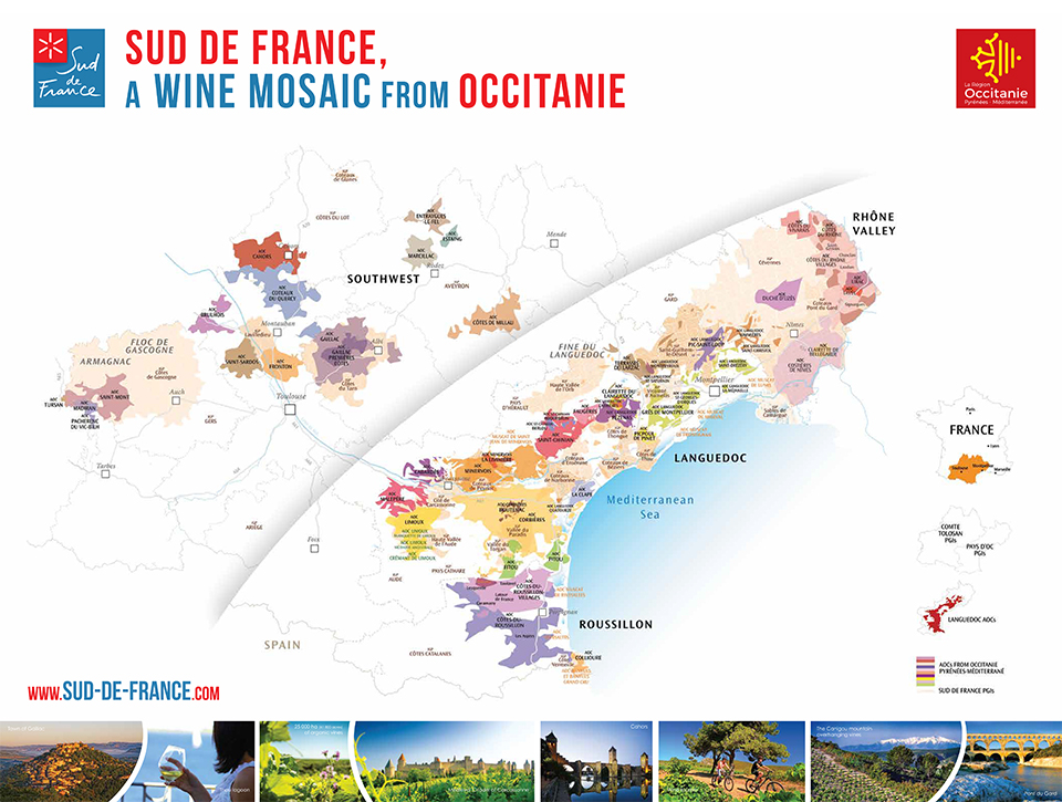 Roussillon France Map.Map Of Our Regions Sud De France Top 100 From Languedoc Roussillon
